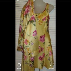 Victoria Secret Silk Robe yellow M/L